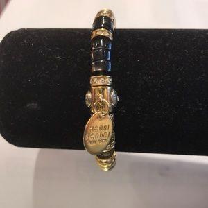 Henri Bendel black, gold and crystal bracelet